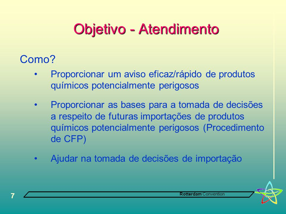 Objetivo - Atendimento