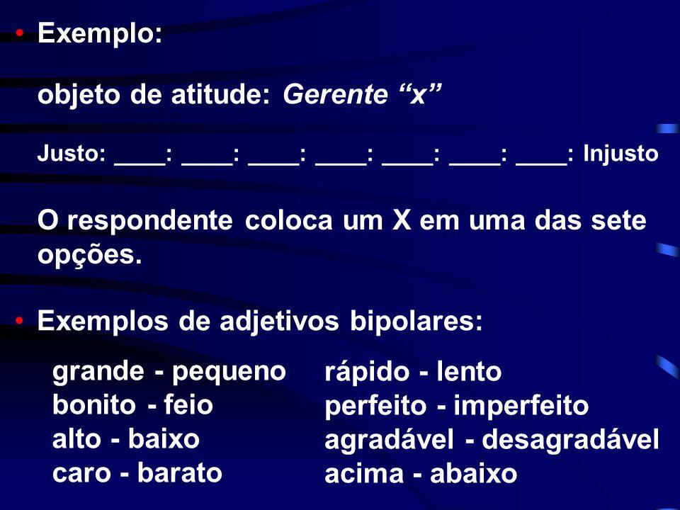 objeto de atitude: Gerente x