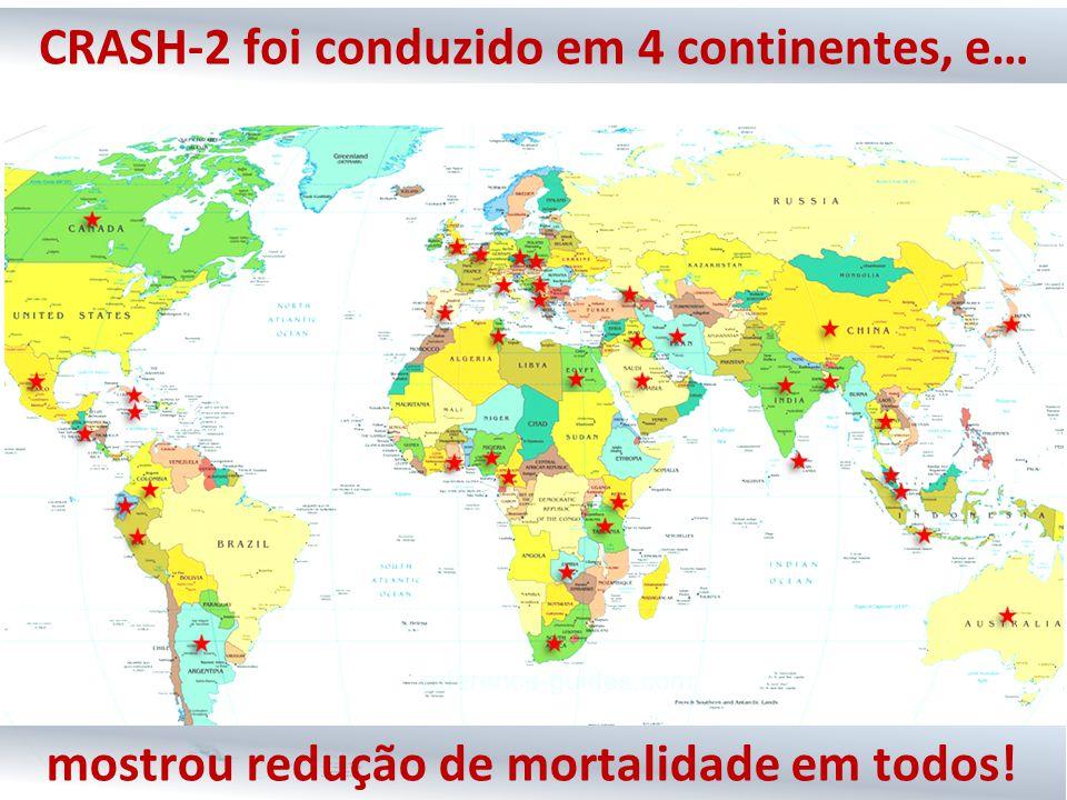 CRASH-2 foi conduzido em 4 continentes, e…