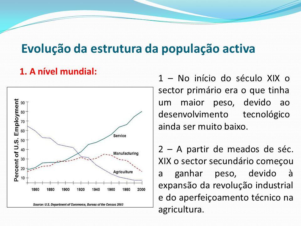 Evolução da estrutura da população activa