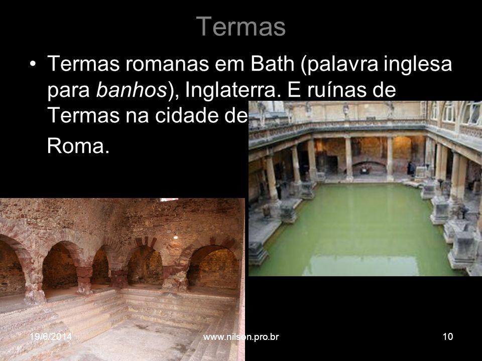 Termas Termas romanas em Bath (palavra inglesa para banhos), Inglaterra. E ruínas de Termas na cidade de.