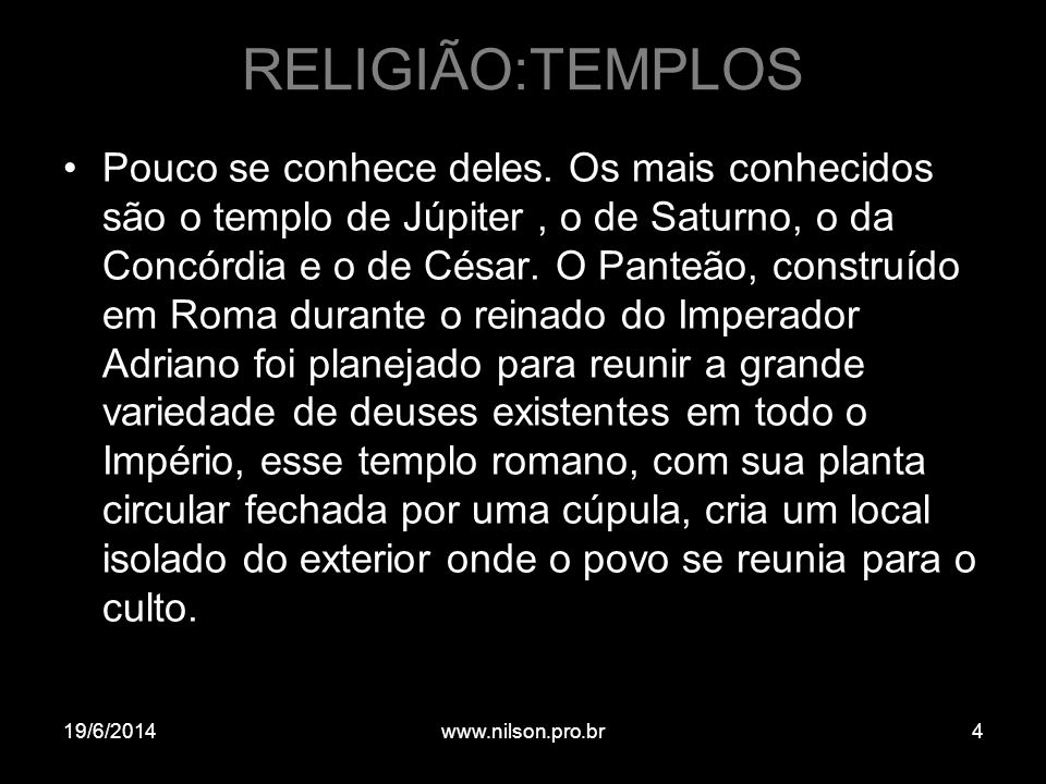 RELIGIÃO:TEMPLOS