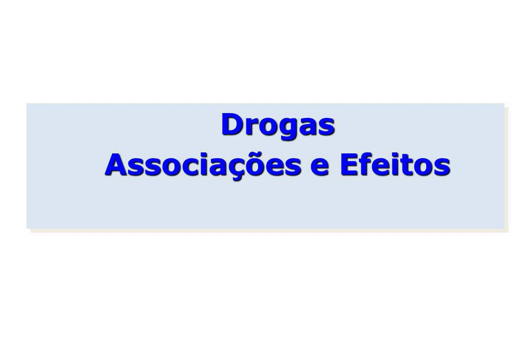 Drogas Associações e Efeitos