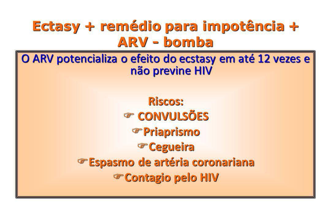 Ectasy + remédio para impotência + ARV - bomba