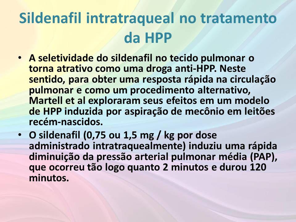 Sildenafil intratraqueal no tratamento da HPP