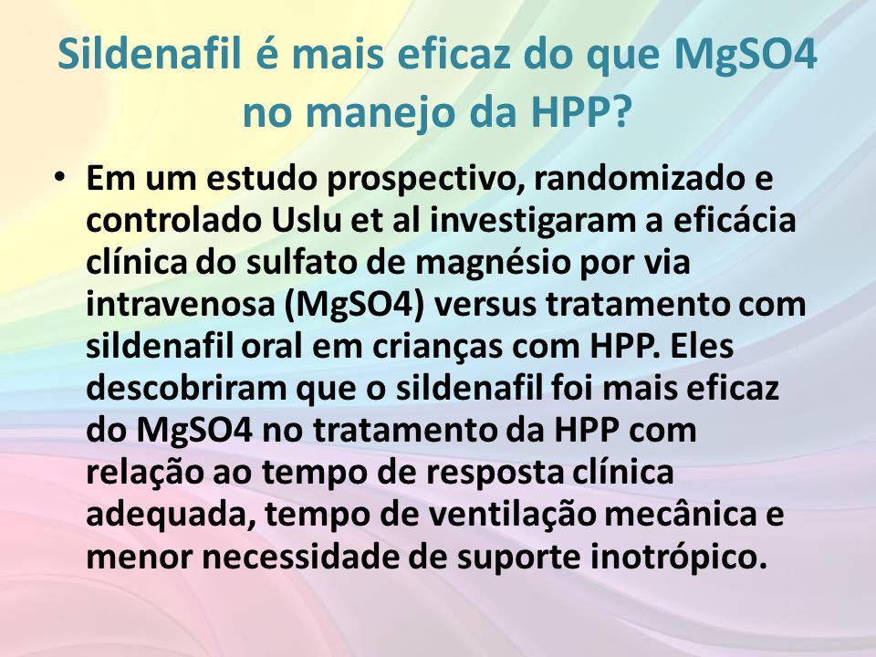 Sildenafil é mais eficaz do que MgSO4 no manejo da HPP