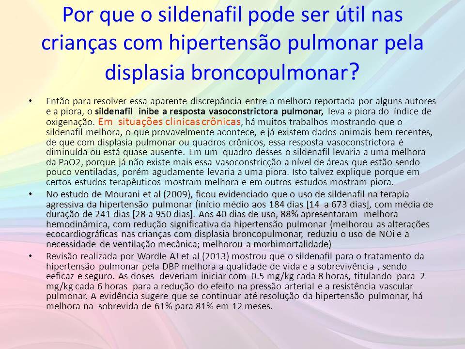 Por que o sildenafil pode ser útil nas crianças com hipertensão pulmonar pela displasia broncopulmonar