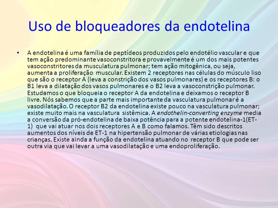 Uso de bloqueadores da endotelina