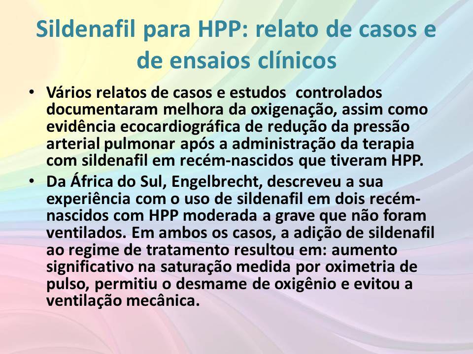 Sildenafil para HPP: relato de casos e de ensaios clínicos
