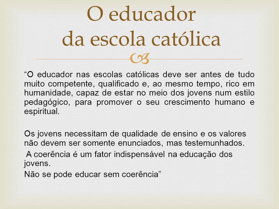 O educador da escola católica