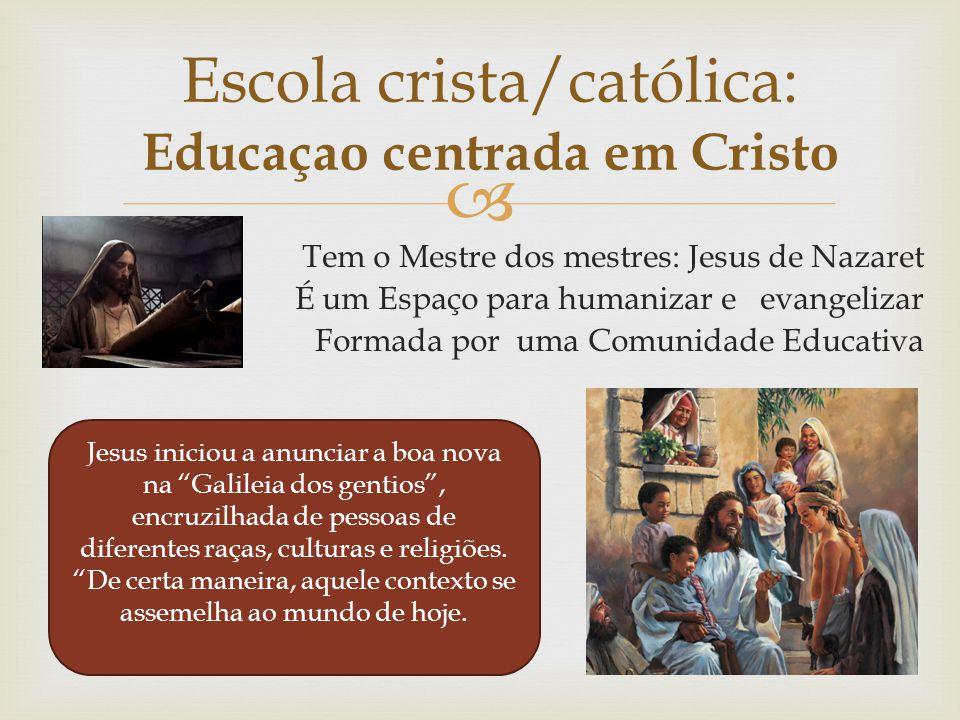 Escola crista/católica: Educaçao centrada em Cristo