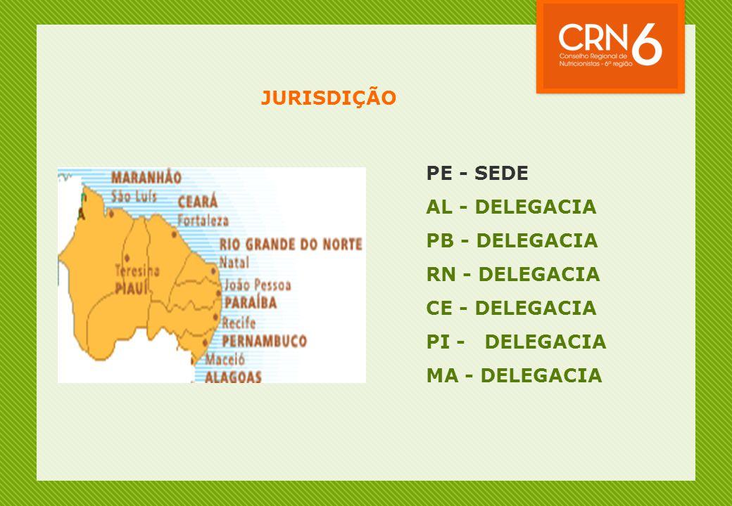 JURISDIÇÃO PE - SEDE. AL - DELEGACIA. PB - DELEGACIA. RN - DELEGACIA. CE - DELEGACIA. PI - DELEGACIA.