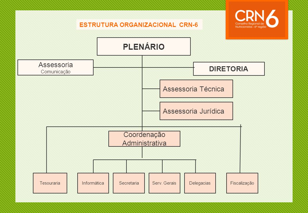 PLENÁRIO Assessoria DIRETORIA Assessoria Técnica Assessoria Jurídica