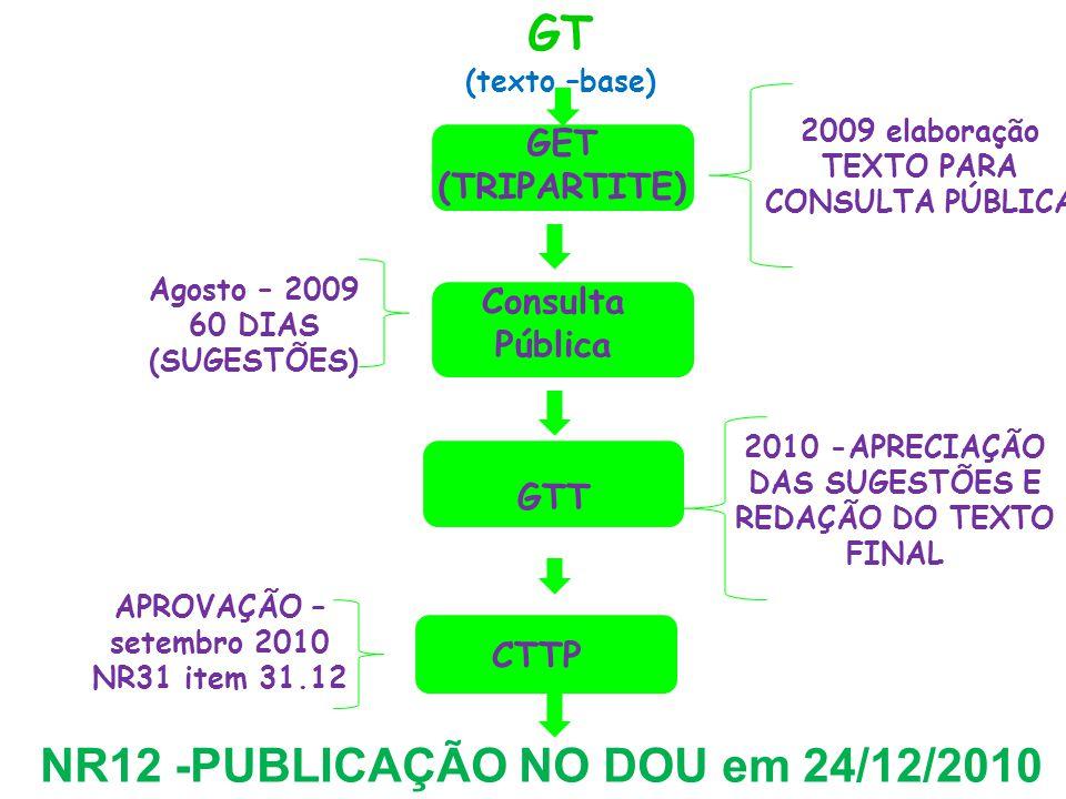 NR12 -PUBLICAÇÃO NO DOU em 24/12/2010