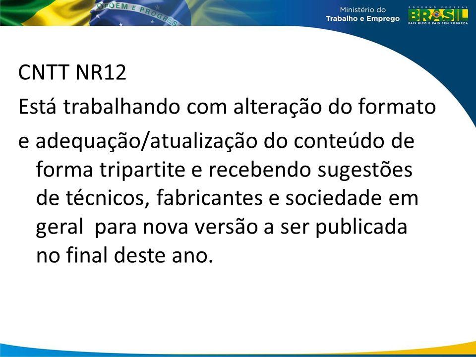 CNTT NR12 Está trabalhando com alteração do formato.