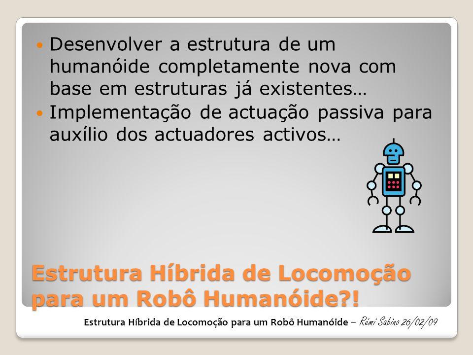 Estrutura Híbrida de Locomoção para um Robô Humanóide !