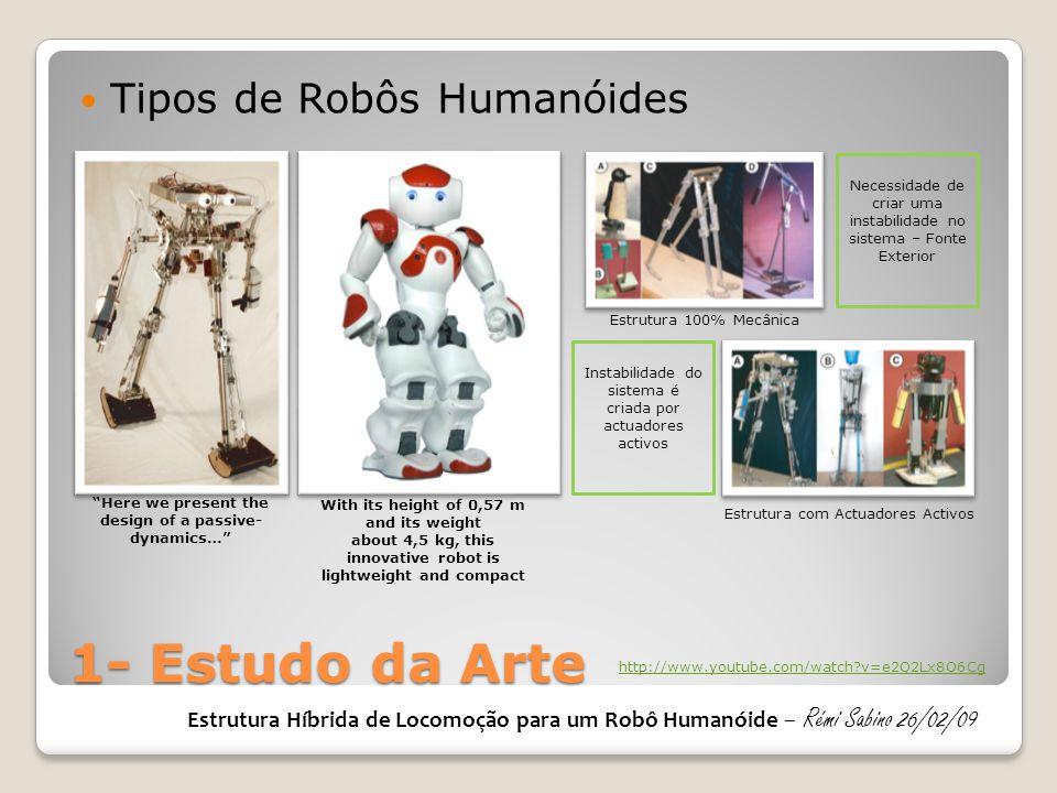 1- Estudo da Arte Tipos de Robôs Humanóides