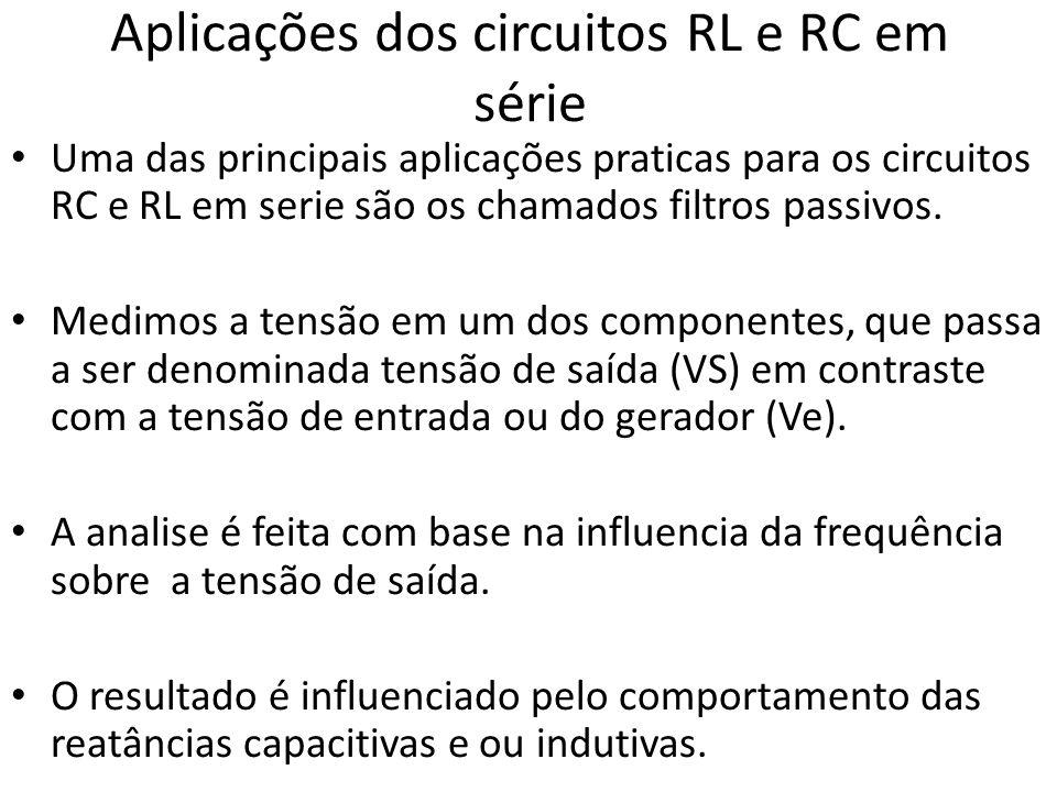 Aplicações dos circuitos RL e RC em série