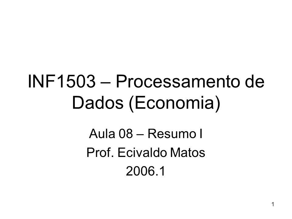 INF1503 – Processamento de Dados (Economia)