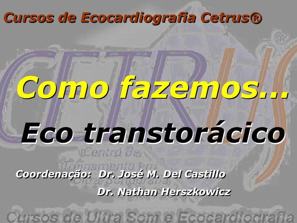 Como fazemos... Eco transtorácico Cursos de Ecocardiografia Cetrus®