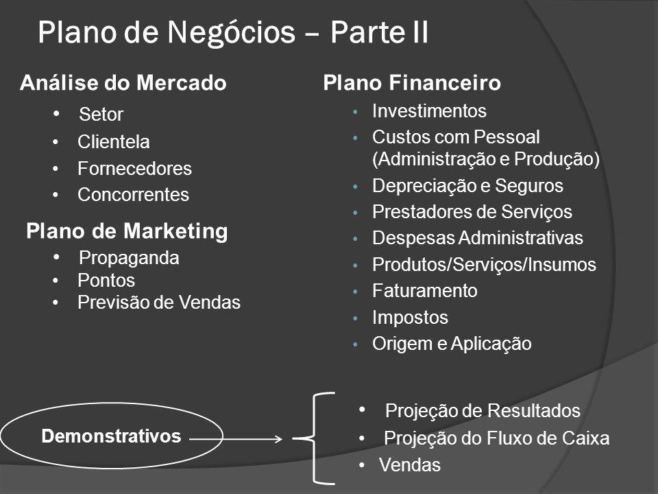 Plano de Negócios – Parte II