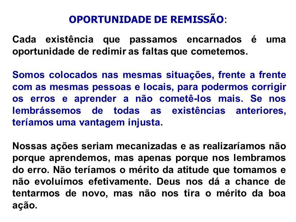OPORTUNIDADE DE REMISSÃO: