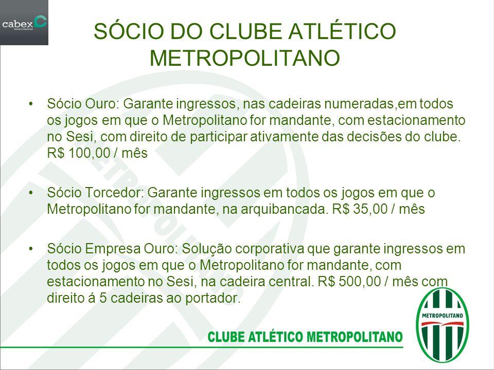 SÓCIO DO CLUBE ATLÉTICO METROPOLITANO
