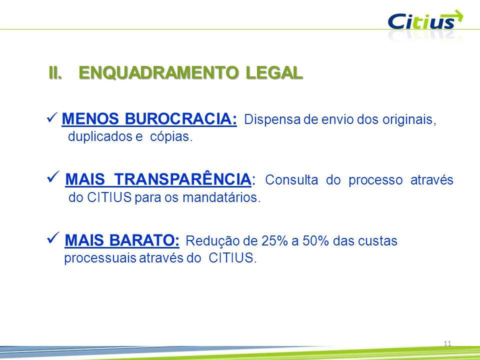 ENQUADRAMENTO LEGAL MENOS BUROCRACIA: Dispensa de envio dos originais, duplicados e cópias.