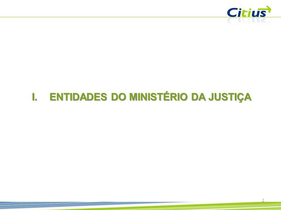 ENTIDADES DO MINISTÉRIO DA JUSTIÇA