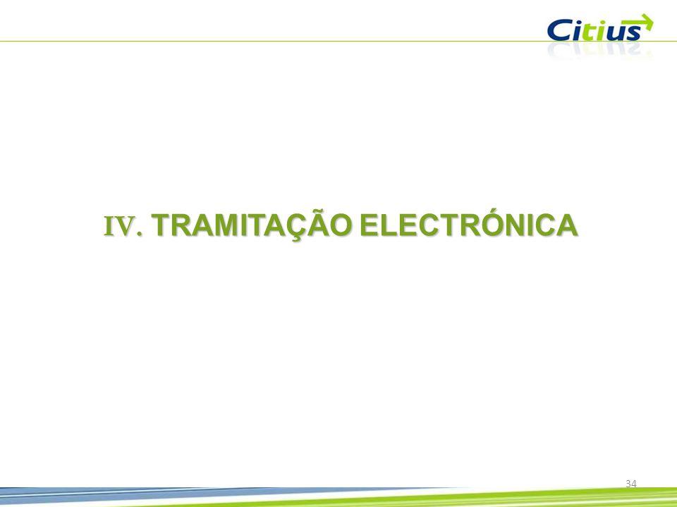 TRAMITAÇÃO ELECTRÓNICA