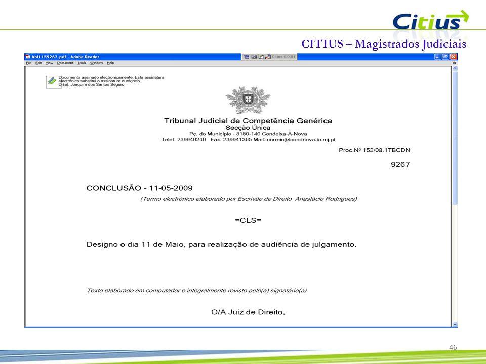 CITIUS – Magistrados Judiciais