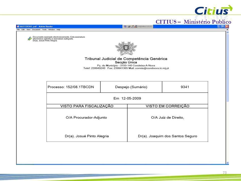 CITIUS – Ministério Publico