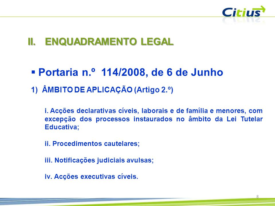 Portaria n.º 114/2008, de 6 de Junho