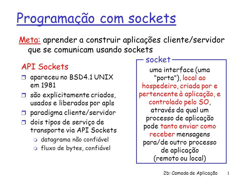 Programação com sockets