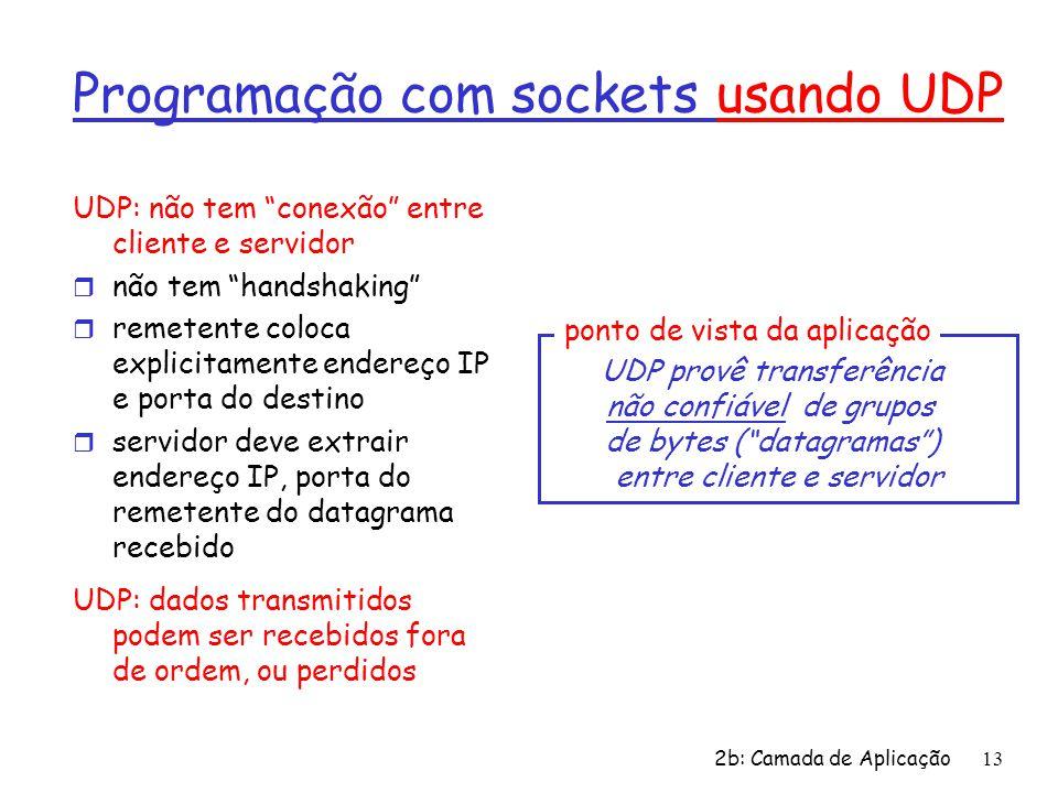 Programação com sockets usando UDP