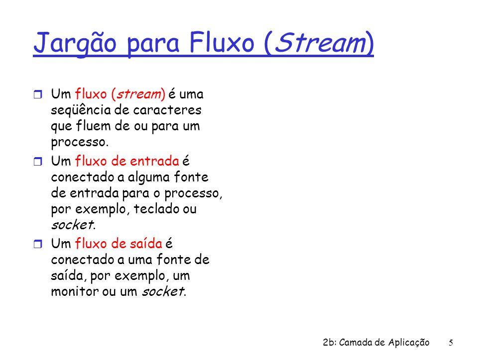 Jargão para Fluxo (Stream)