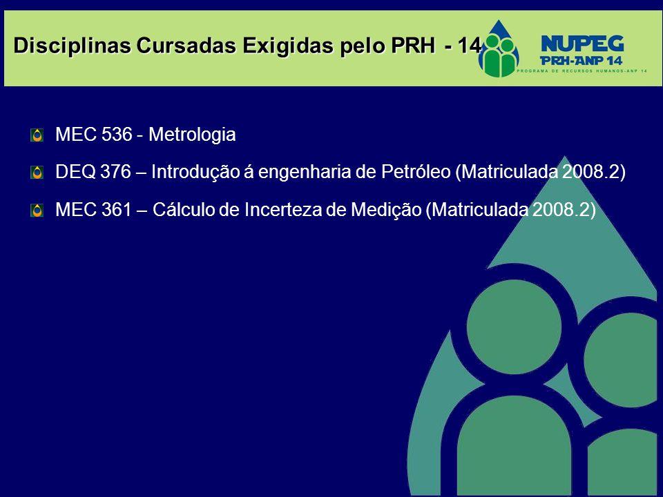Disciplinas Cursadas Exigidas pelo PRH - 14