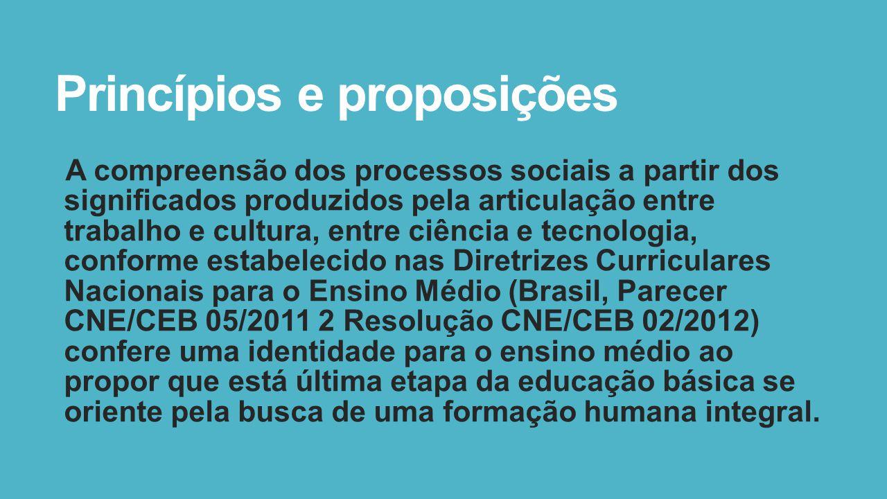 Princípios e proposições