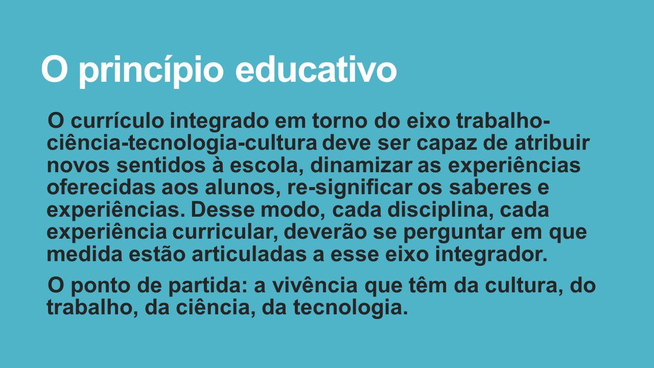 O princípio educativo