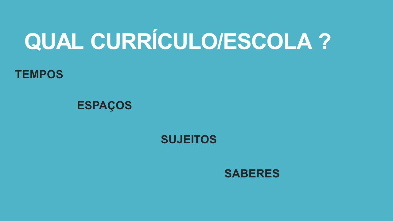QUAL CURRÍCULO/ESCOLA