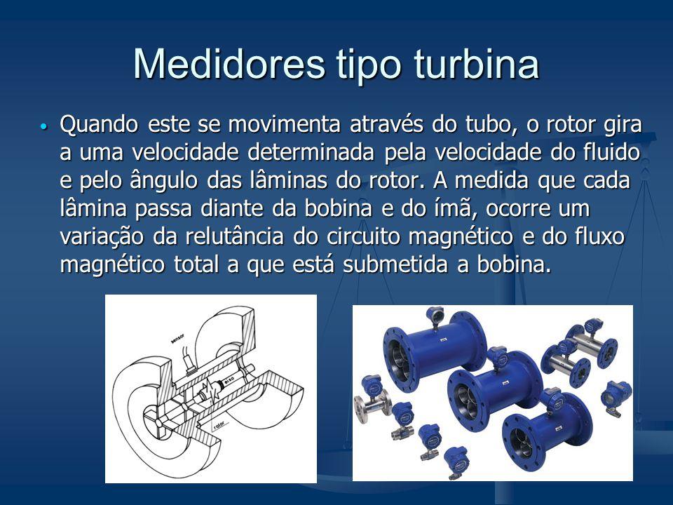 Medidores tipo turbina