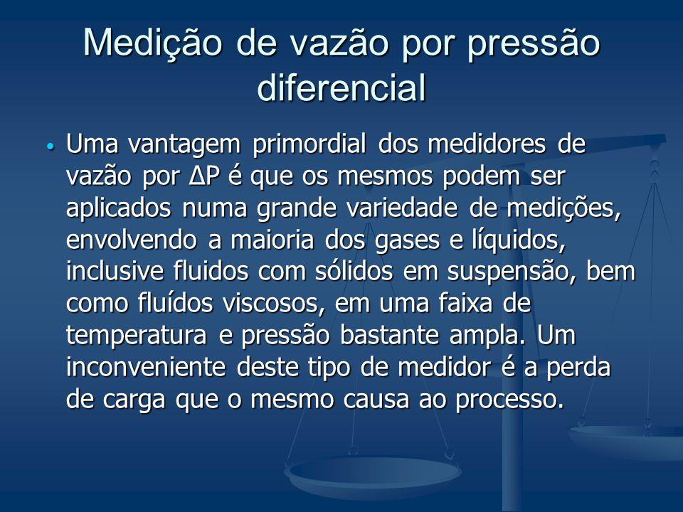 Medição de vazão por pressão diferencial