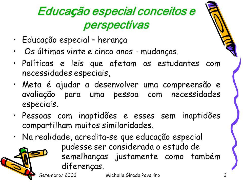 Educação especial conceitos e perspectivas