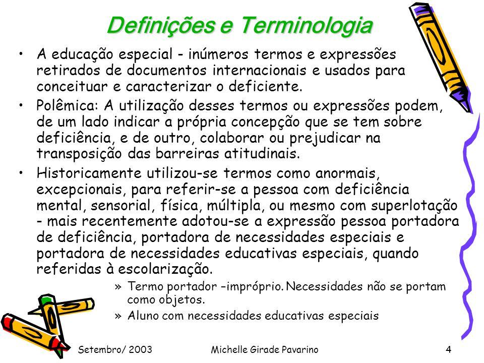 Definições e Terminologia