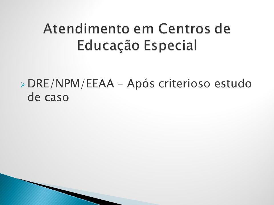 Atendimento em Centros de Educação Especial