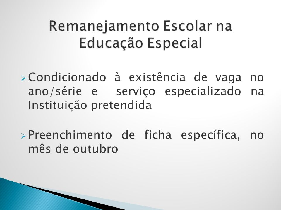 Remanejamento Escolar na Educação Especial