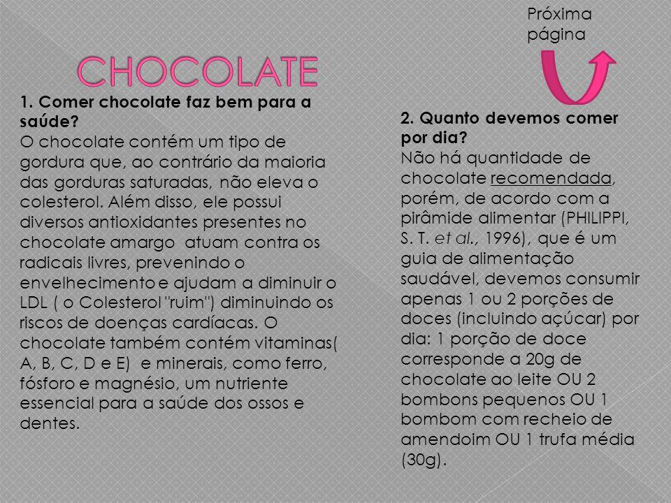 CHOCOLATE Próxima página