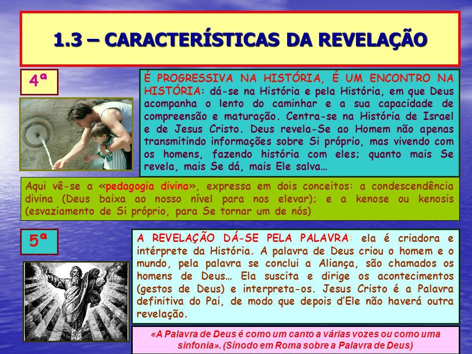 1.3 – CARACTERÍSTICAS DA REVELAÇÃO