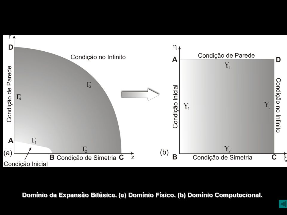 Domínio da Expansão Bifásica. (a) Domínio Físico