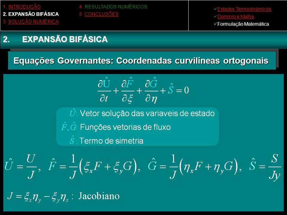 Equações Governantes: Coordenadas curvilíneas ortogonais
